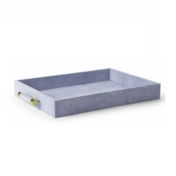 aerin blue shagreen tray