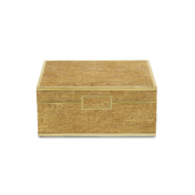 aerin gold linen jewelry box