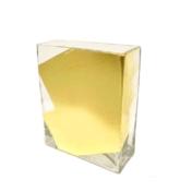 childs studio rectangle vase gold slash