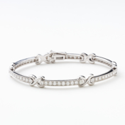"White gold and diamond ""X"" bracelet"
