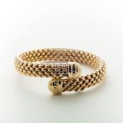 18kt yellow gold by-pass bangle bracelet