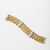 18kt Gold Mesh and Diamond bracelet