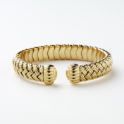 Flexible Gold Bangle Bracelet