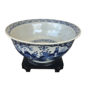 blue and white large bowl