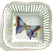 Small Square Butterfly Dish - Green