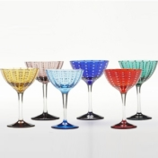 Perle Set Of 6 Cocktails Assorted Colors