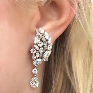 estate diamonds diamond earrings red carpet jewelry