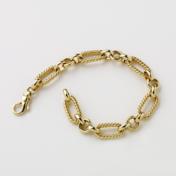 rope link gold bracelet