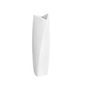 white wave tall vase