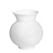 white wave relief vase