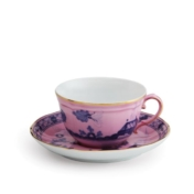 ginori oriente italiano azalea tea cup and tea saucer
