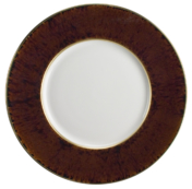 Toroise Gold Rim Dinner Plate