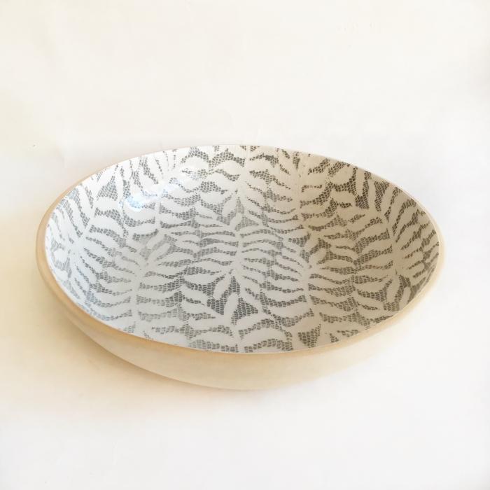 Medium serving bowl fern charcoal