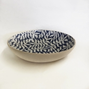 Medium Serving Bowl Fern Cobalt