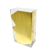 childs studio 10in rectangle vase gold slash