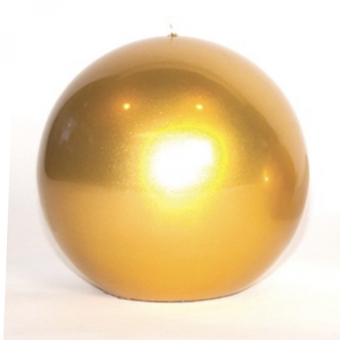 Gold Sphere Candle