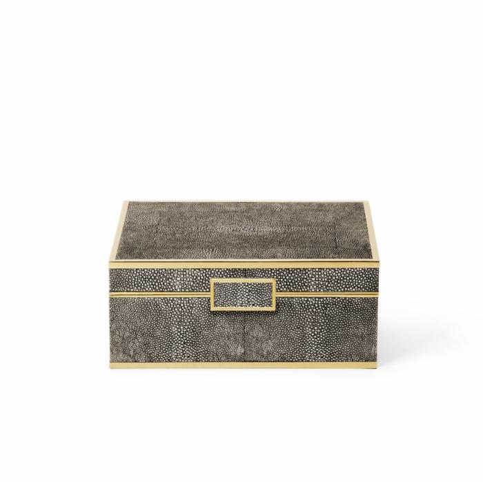 aerin chocolate shagreen box