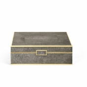 aerin chocolate shagreen box