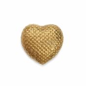 aerin woven gold heart box