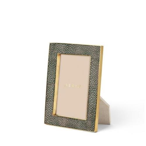 aerin chocolate classic shagreen frame