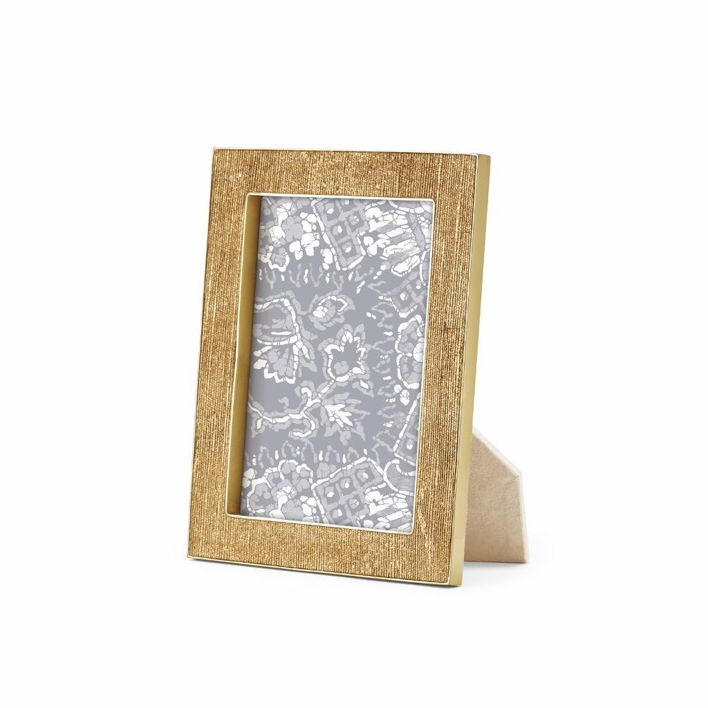 Gold Linen Frame, 4x6 - Elizabeth Bruns, Inc.