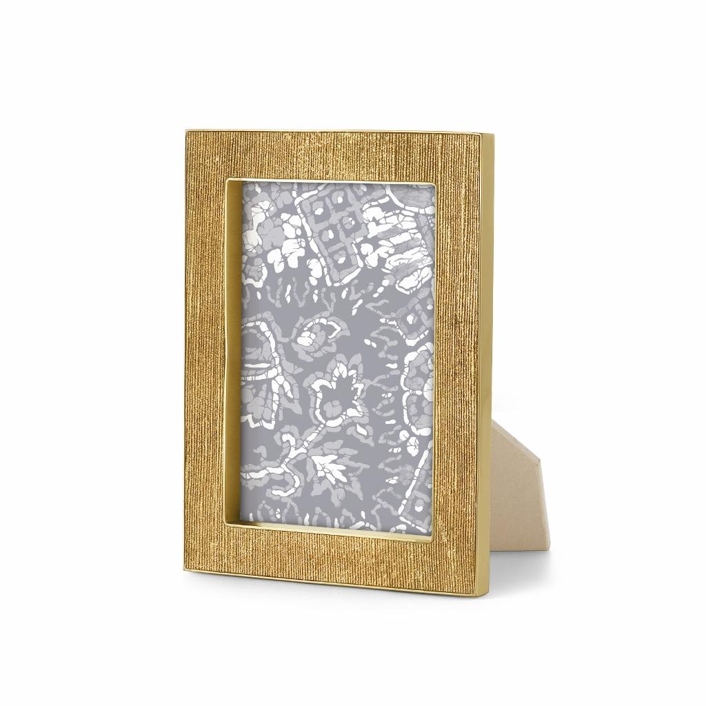 Aerin Gold Home Decor Inspiration: Gold Linen Frame, 5x7