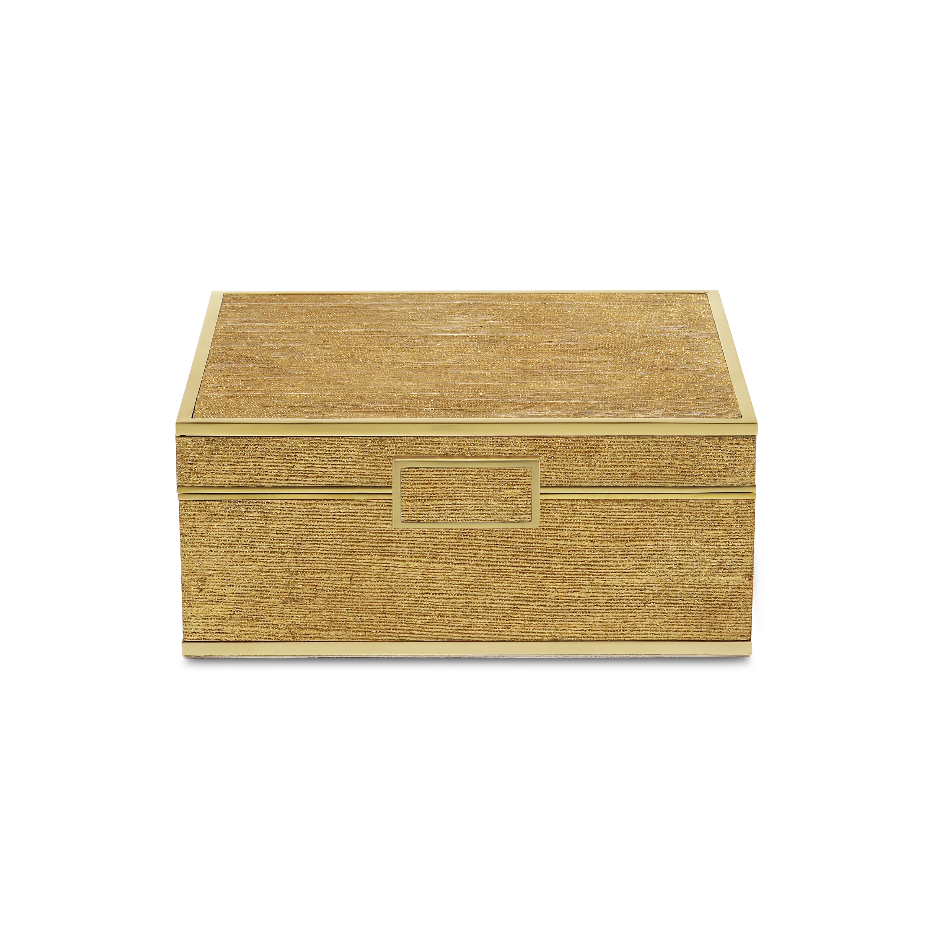 Gold Linen Small Jewelry Box Elizabeth Bruns Inc