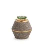 aerin chocolate shagreen match striker