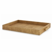 aerin gold linen butler tray