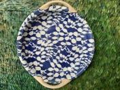 """Aspen Terrafirma Cobalt 13"""" Handled Platter"""