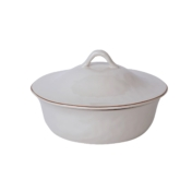 Skyros Cantaria White Round Covered Casserole