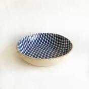 8 inch bowl dot cobalt