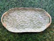 18x9 oval platter with handles Aspen citrus
