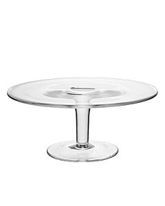 Plain glass cake stand