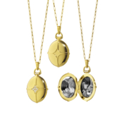 Monica Rich Kosann Gold Locket Bridle