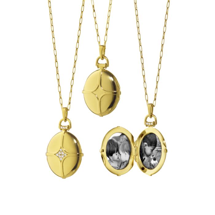 Monica Rich Kosann Gold Locket Bridle