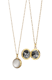 Monica Rich Kosann gold mother of pearl locket
