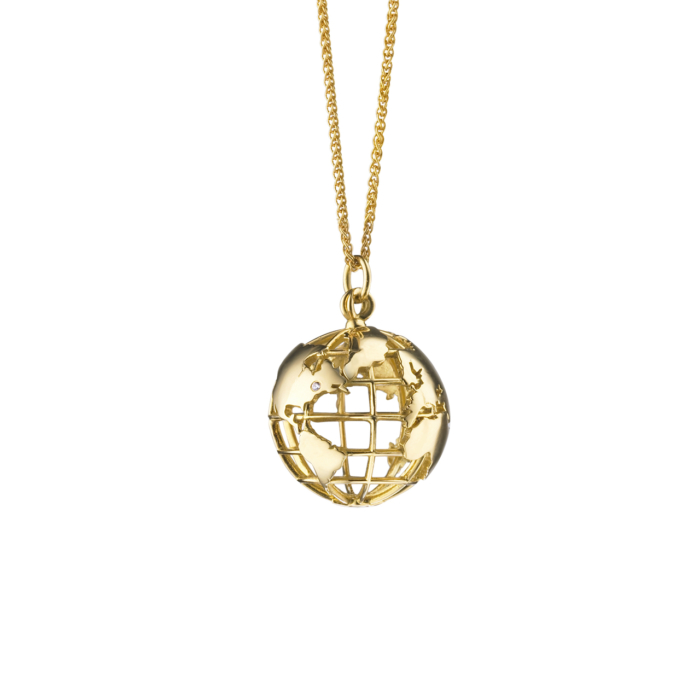 Monica Rich Kosann gold earth charm