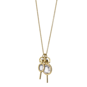 Monica Rich Kosann Gold Pocket Watch Keys on Chain