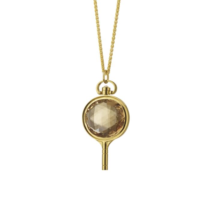 Monica Rich Kosann Quartz Pocketwatch Key Pendant