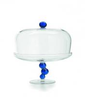 Billa Cake Stand and Dome Blue