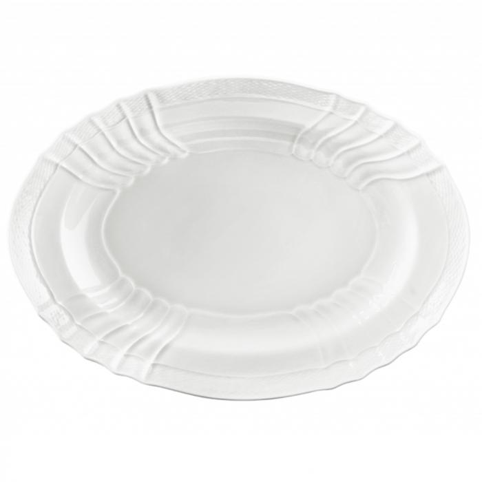 """VecchioGinori White !6"""" Oval Platter"""