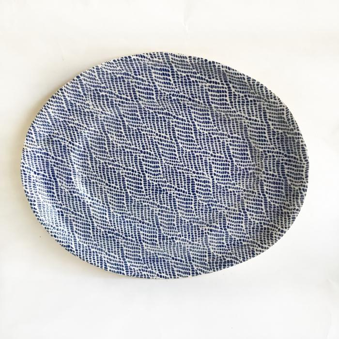 Banquet oval Braid Cobalt