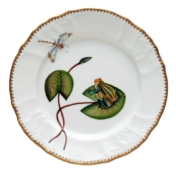 Anna Weatherley Seascape Waterlily Frog on Lilypad Salad Plate