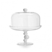 Billa Small Cake Stand and Dome White