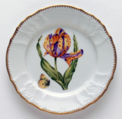 Old Master Tuplips Old Master Tuplips Salad Plate -Purple, Orange