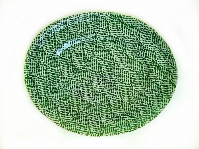 Banquet Oval Braid Pine