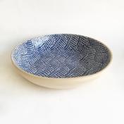 Terrafirma Ceramics Medium Serving Bowl Braid Cobalt