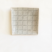 "9"" square Deco Charcooal"