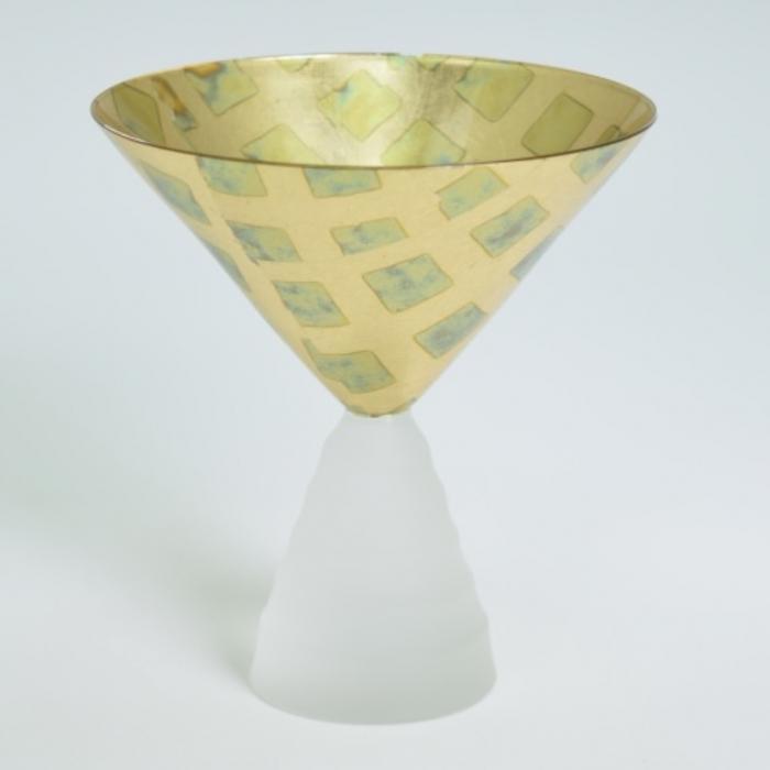 Dessert Glass Checker Gold